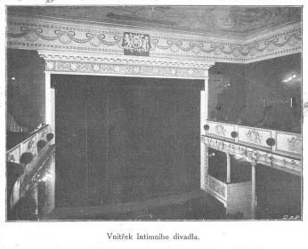7_Interiér divadla v letech 1908 až 1928 kdy neslo název Intimní_foto archiv Švandova divadla