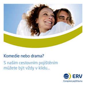 ERV - S naším cestovním pojištěním můžete být vždy v klidu (reklamní banner)