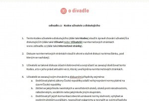 Kodex uživatele a diskutujícího