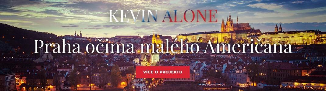 Banner Kevin Alone - Praha očima malého Američana